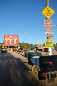 Polebridge, MT where the preferred method of travel is walking.