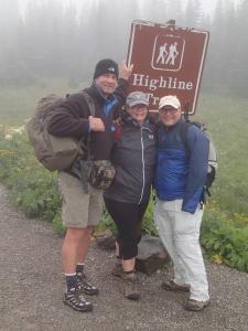 At the trail head- Logan's Pass